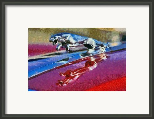 Jaguar V12 Badge Framed Print By George Atsametakis