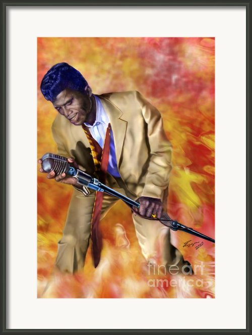 James Brown And His Famous Flames Framed Print By Reggie Duffie