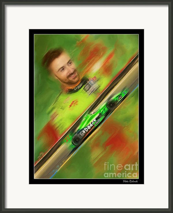 James Hinchcliffe Framed Print By Blake Richards