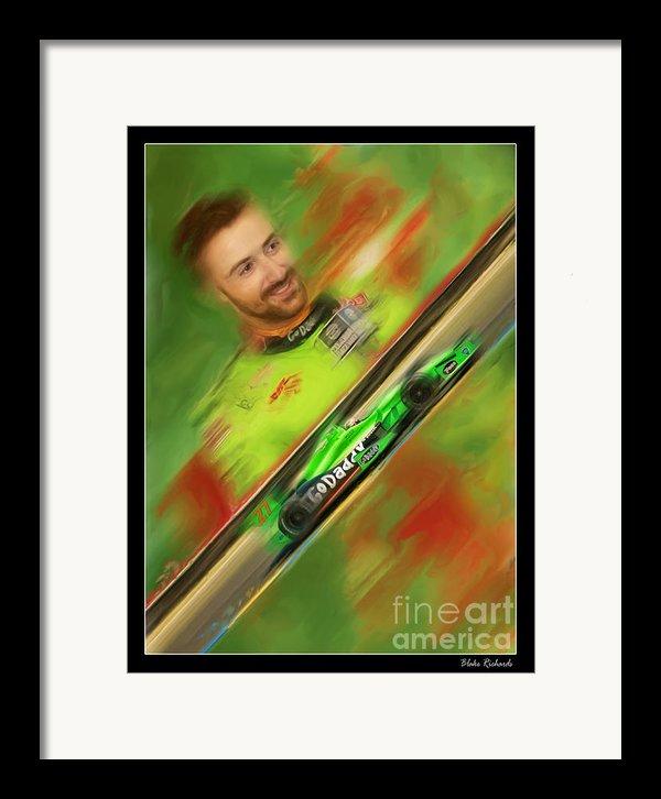 James Hinchcliffe Framed Print By Blake Richards