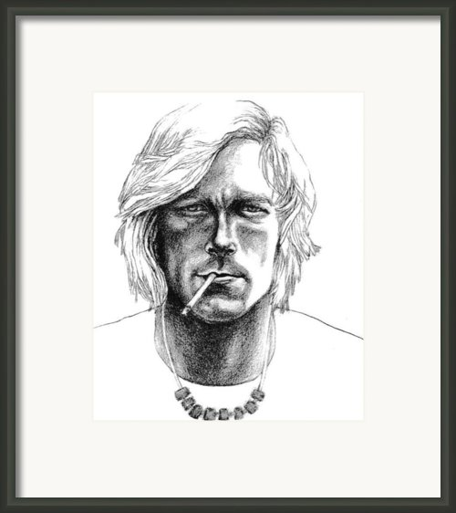 James Hunt Framed Print By Diane Fine