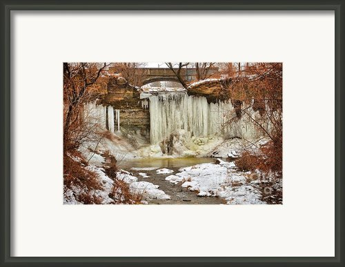January Melt At Wequiock Falls  Framed Print By Shutter Happens Photography