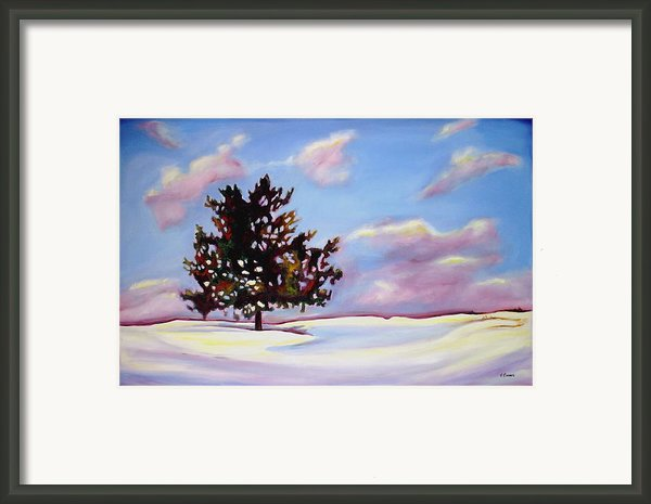 January Framed Print By Sheila Diemert
