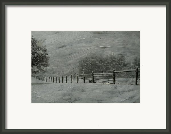 January Storm Framed Print By Kathy Jennings