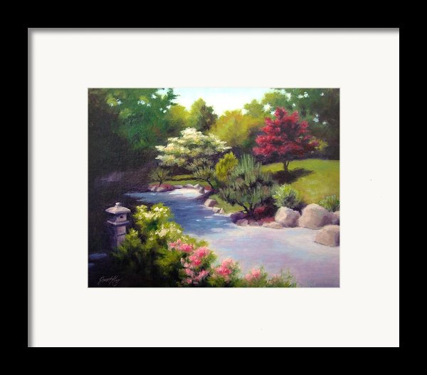Japanese Garden At Cheekwood Framed Print By Janet King