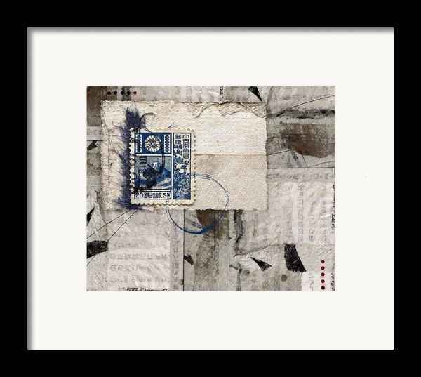 Japanese Postage 20 Sen Framed Print By Carol Leigh