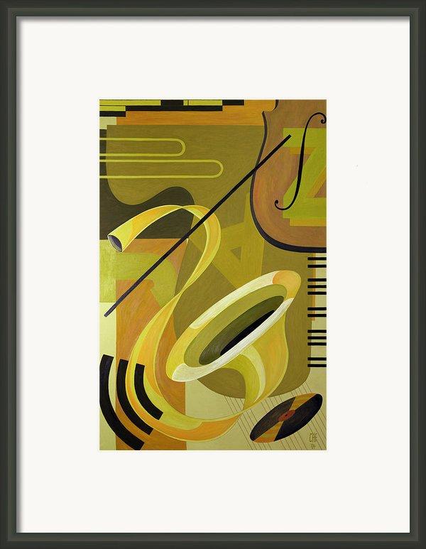 Jazz Framed Print By Carolyn Hubbard-ford