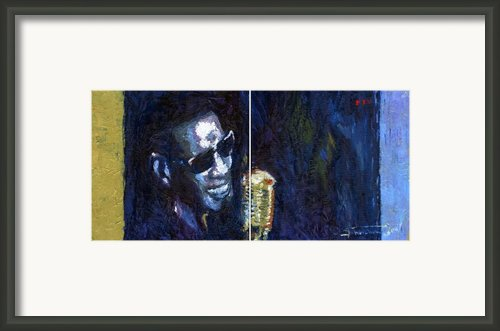 Jazz Ray Charles Song Framed Print By Yuriy  Shevchuk