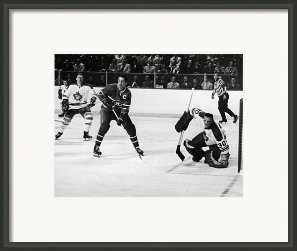 Jean Beliveau Poster Framed Print By Sanely Great
