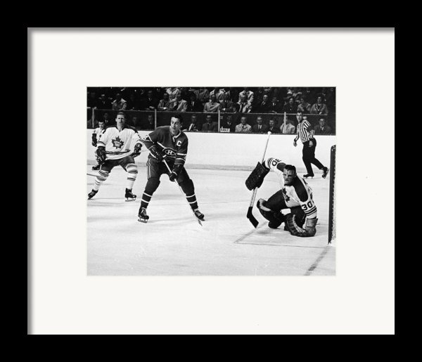 Jean Beliveau Poster Framed Print By Gianfranco Weiss