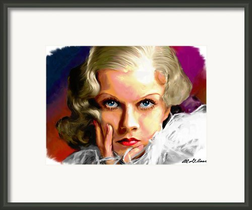 Jean Harlow Framed Print By Allen Glass