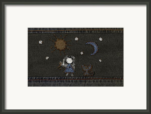 Jeans Stitches Framed Print By Sanely Great