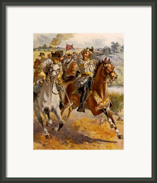 Jeb Stuart Civil War Framed Print By Henry Alexander Ogden