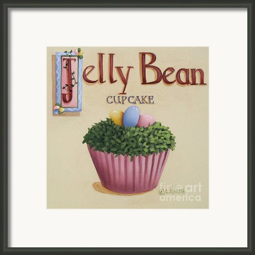 Jelly Bean Cupcake Framed Print By Catherine Holman
