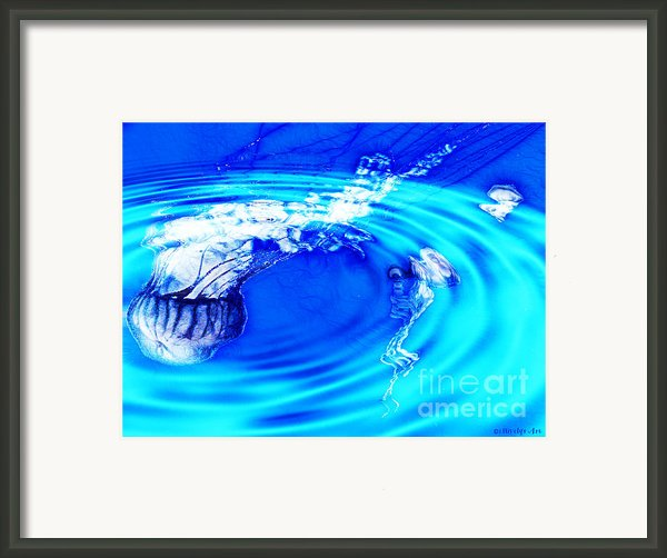 Jellyfish Pool Framed Print By Methune Hively