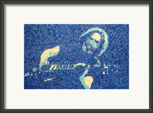 Jerry Garcia Chuck Close Style Framed Print By Joshua Morton