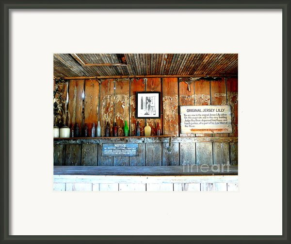 Jersey Lilly Saloon Framed Print By Avis  Noelle