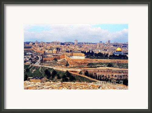 Jerusalem From Mount Olive Framed Print By Thomas R Fletcher