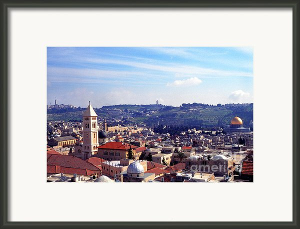Jerusalem Framed Print By Thomas R Fletcher