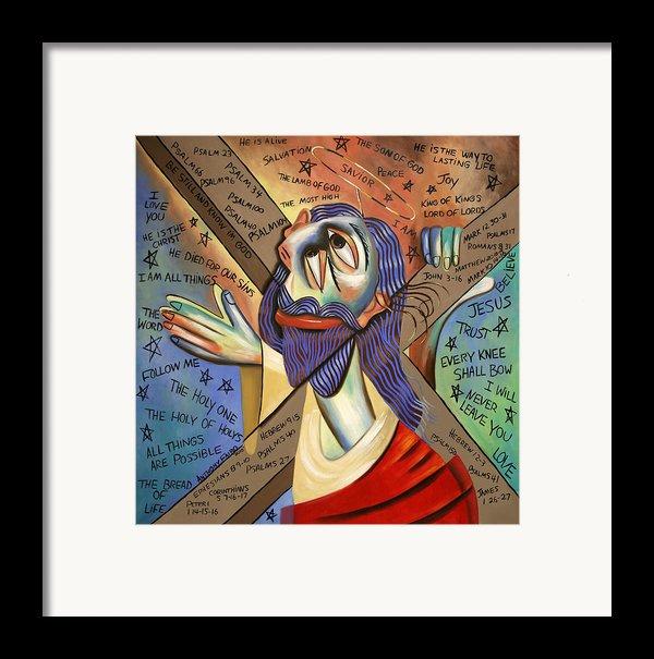 Jesus Framed Print By Anthony Falbo