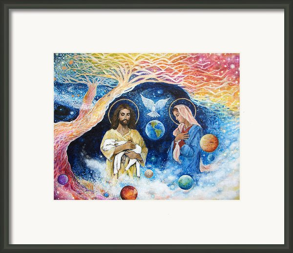 Jesus Art - Cloud Colored Christ Come Framed Print By Ashleigh Dyan Bayer