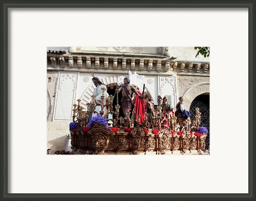 Jesus Christ And Roman Soldiers On Procession Framed Print By Artur Bogacki
