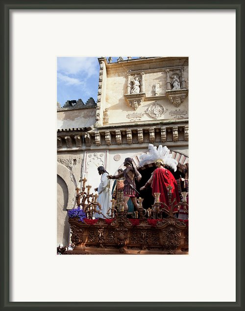 Jesus Christ And Roman Soldiers On Procession Platform Framed Print By Artur Bogacki