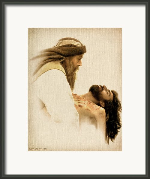 Jesus Laid To Rest Framed Print By Ray Downing