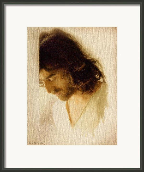 Jesus Praying Framed Print By Ray Downing