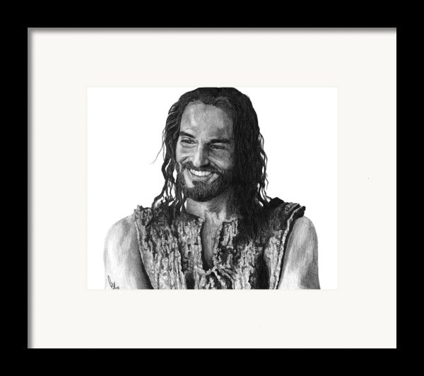 Jesus Smiling Framed Print By Bobby Shaw