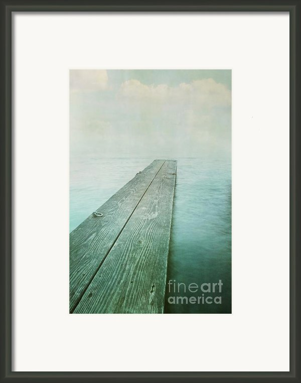Jetty Framed Print By Priska Wettstein