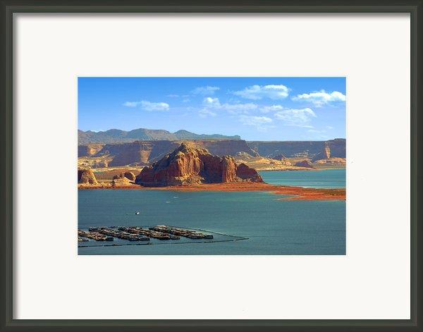 Jewel In The Desert - Lake Powell Framed Print By Christine Till