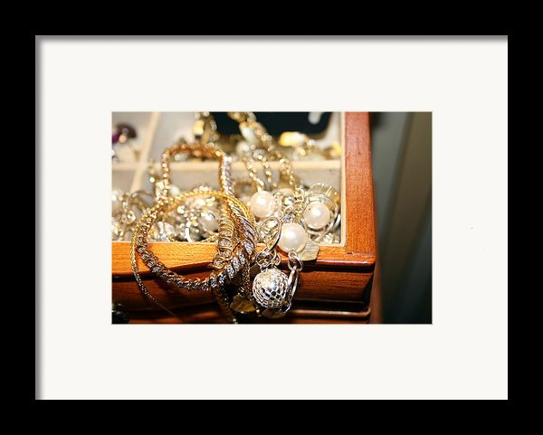 Jewelry Collections Framed Print By Ester  Rogers