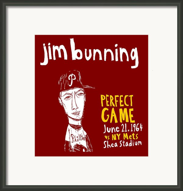 Jim Bunning Philadelphia Phillies Framed Print By Jay Perkins
