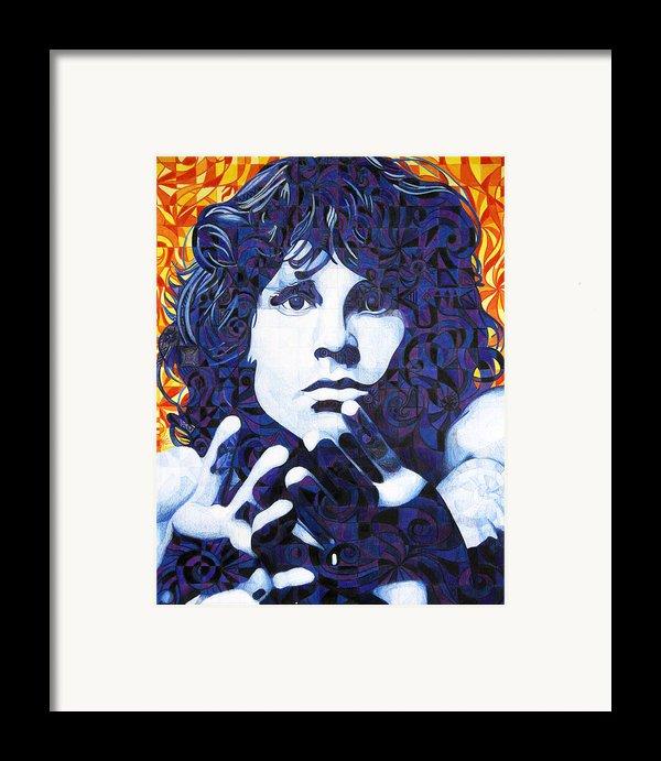 Jim Morrison Chuck Close Style Framed Print By Joshua Morton