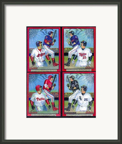 Jim Thome Hits 600th Home Run Framed Print By Ray Tapajna