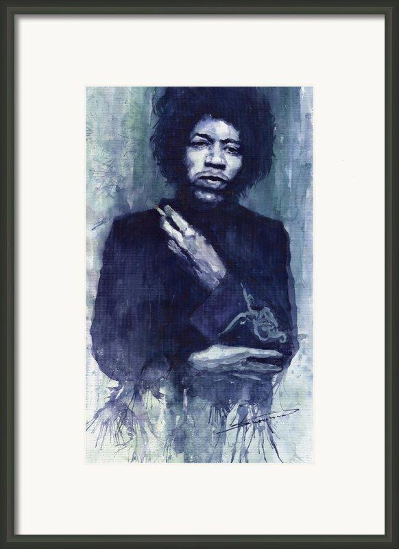 Jimi Hendrix 01 Framed Print By Yuriy  Shevchuk