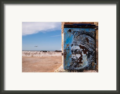 Jimi Hendrix On The Beach Framed Print By Daniel Kocian