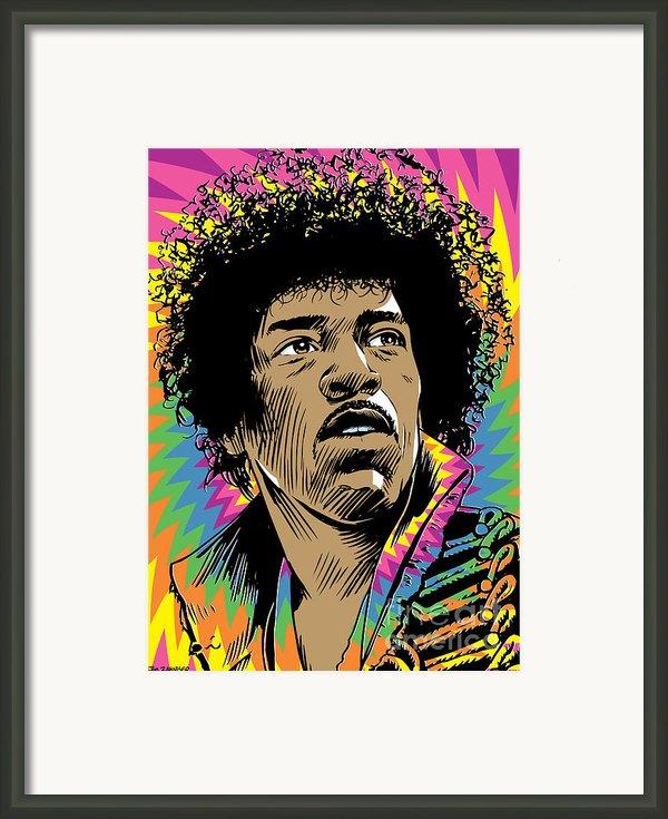 Jimi Hendrix Pop Art Framed Print By Jim Zahniser