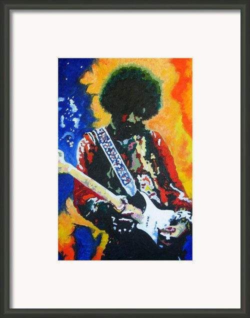 Jimi Hendrix Voodoo Child Framed Print By Ronald Young