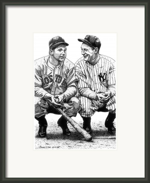 Jimmie And Lou Framed Print By Bruce Kay