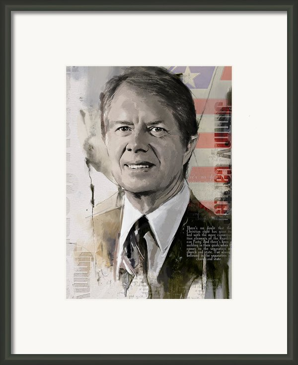 Jimmy Carter Framed Print By Corporate Art Task Force