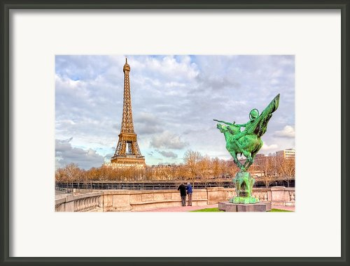 Joan Of Arc And The Eiffel Tower Framed Print By Mark E Tisdale