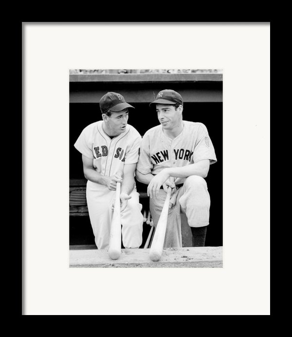 Joe Dimaggio And Ted Williams Framed Print By Gianfranco Weiss