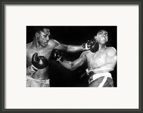 Joe Frazier Vs. Muhammad Ali Framed Print By Everett