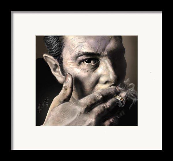 Joe Strummer-burning Lights Framed Print By Reggie Duffie