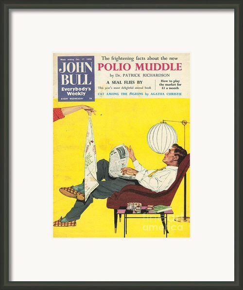 John Bull 1950s Uk Dish Washing Framed Print By The Advertising Archives