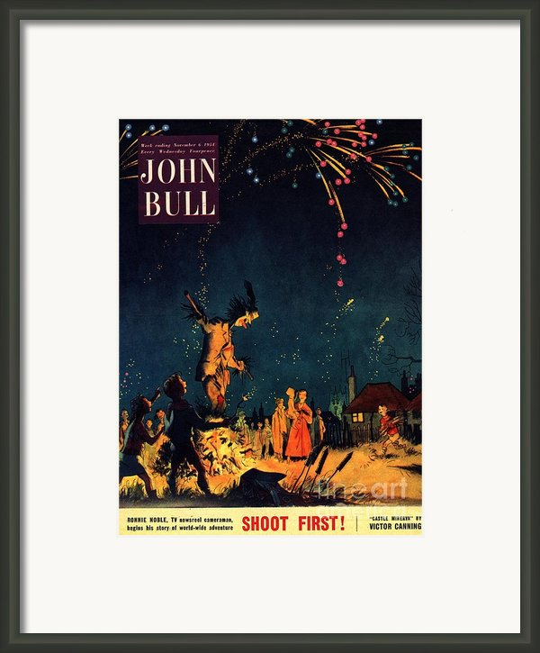 John Bull 1954 1950s  Uk Guy Fawkes Framed Print By The Advertising Archives