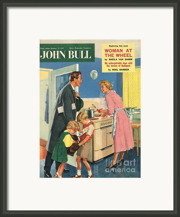 John Bull 1957 1950s Uk Cooking Framed Print By The Advertising Archives