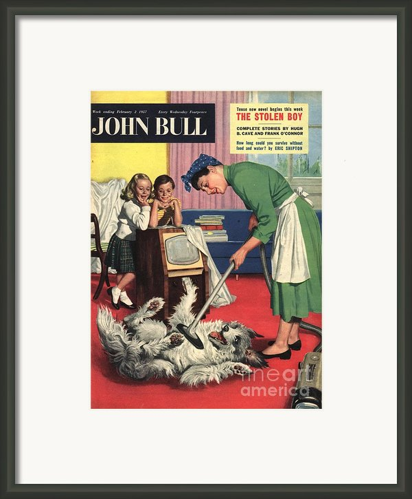 John Bull 1957 1950s Uk Dogs Cleaning Framed Print By The Advertising Archives